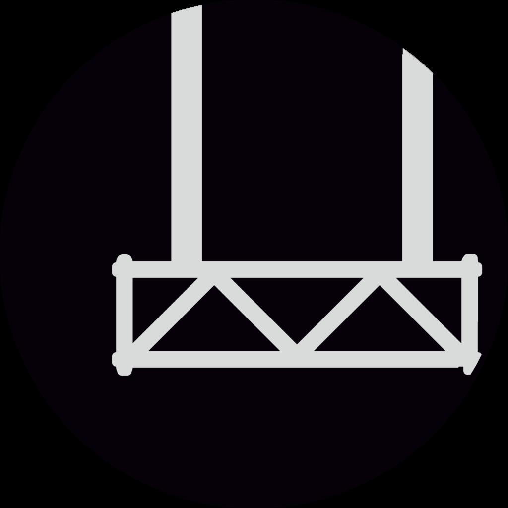 icono del andamio colgante eléctrico - enlace para alquiler y venta
