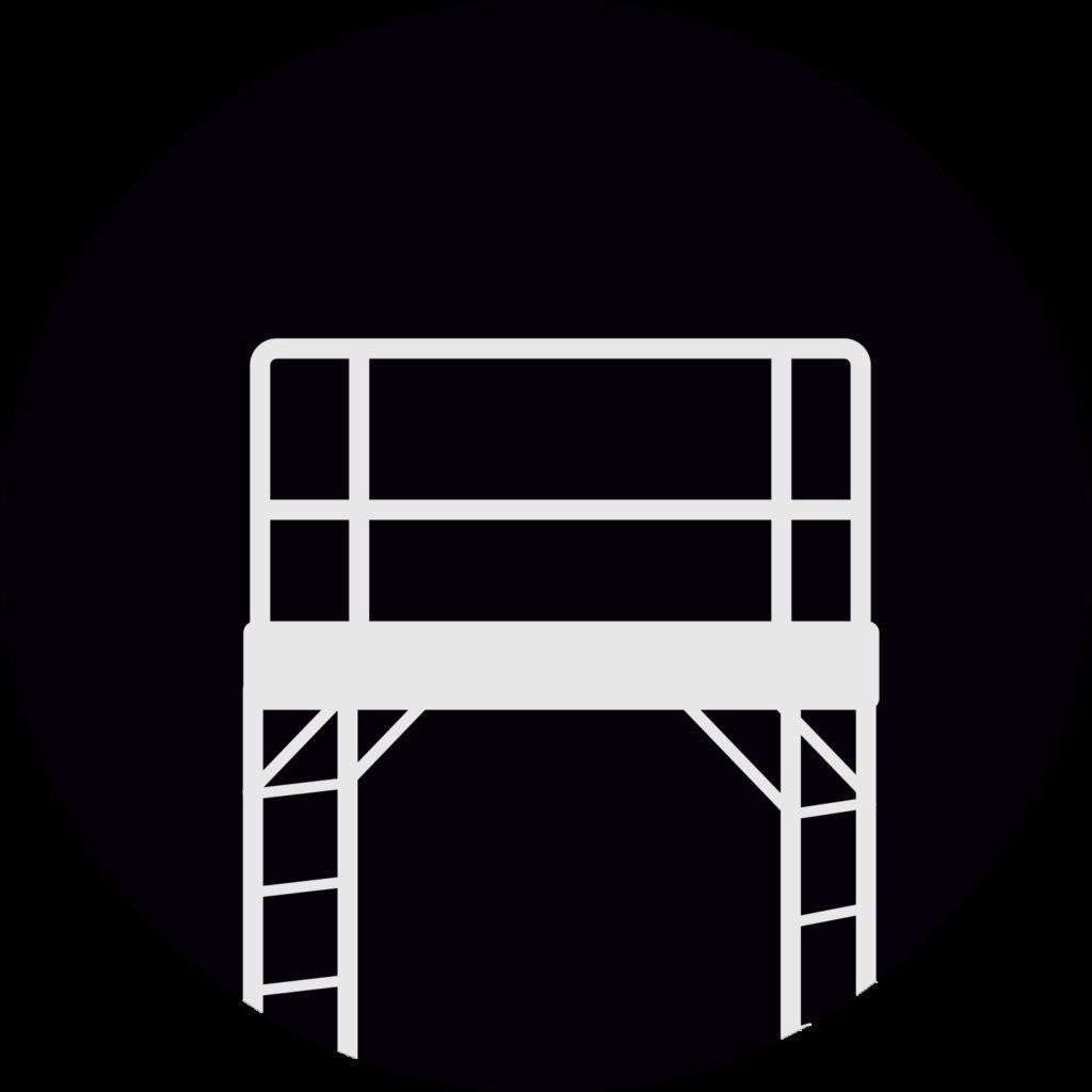 icono del andamio multiuso certificado, tipo metaltech - enlace para alquiler y venta
