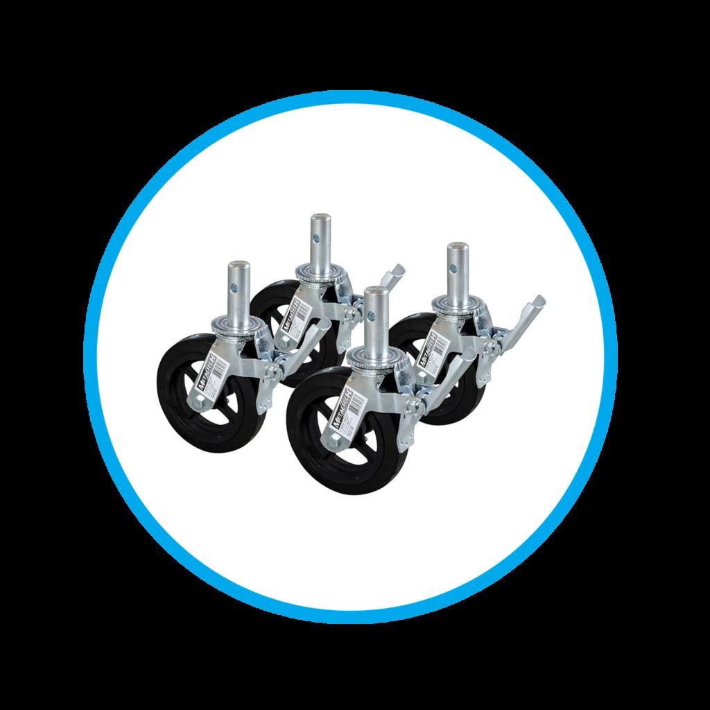 ruedas - andamio - multiuso - certificado